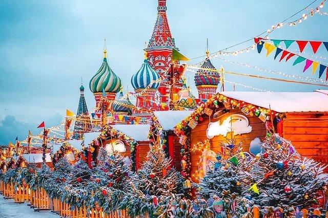 Москва, Новый год, каникулы